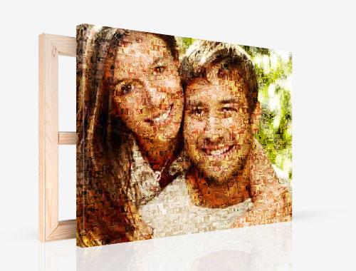 Foto lienzo con mosaico pareja