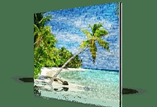 Foto mosaico aluminio dibond playa tropical pequeño