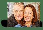 Foto mosaico evaluacion cliente
