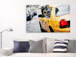 Foto mosaico metacrilato taxi salon