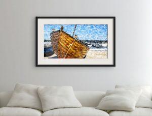 Foto mosaico poster barco salon
