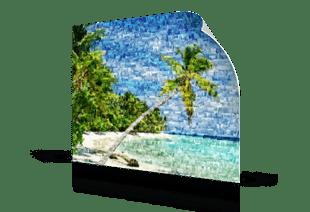 Foto mosaico poster playa tropical pequeño