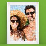 Poster foto con mosaico gafas sol