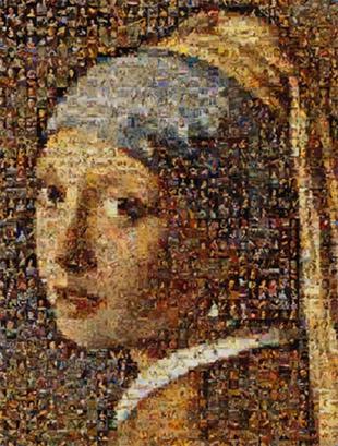 Foto mosaico como objeto de arte