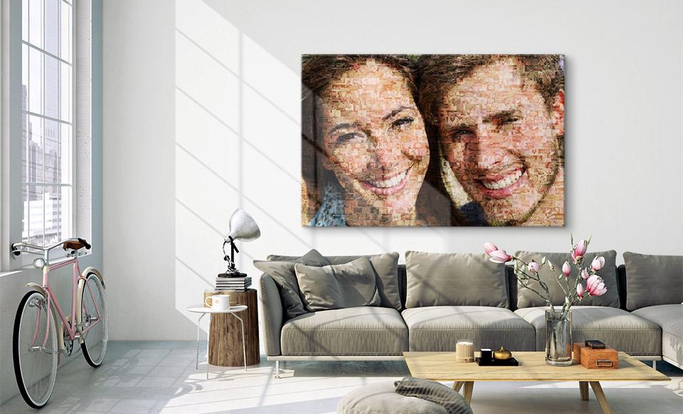 mosaico de fotos familiares apartamento