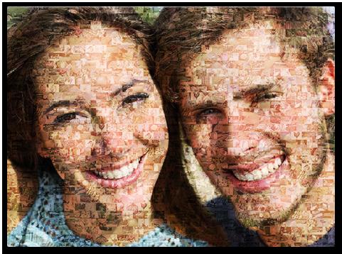 mosaico de fotos familiares top