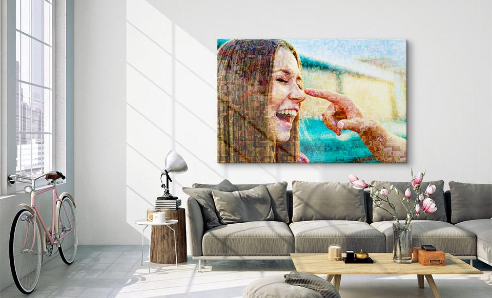 mosaico de fotos para cumpleanos apartamento