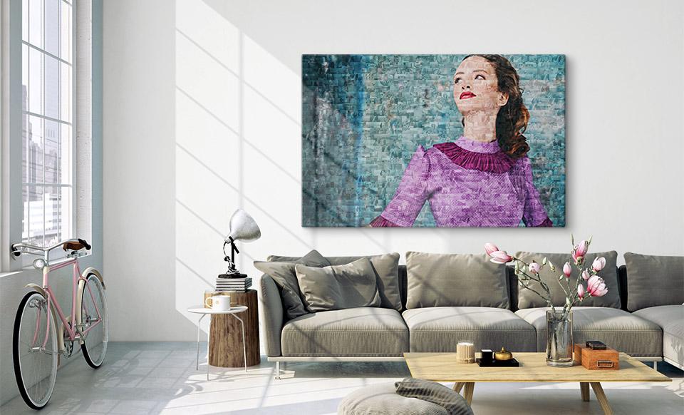 mosaico de fotos pequenas apartamento