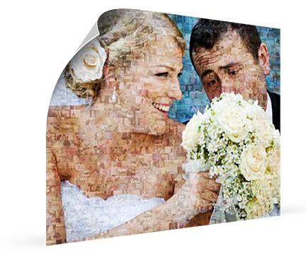 poster mosaico boda