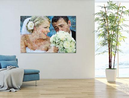 poster mosaico pareja salon