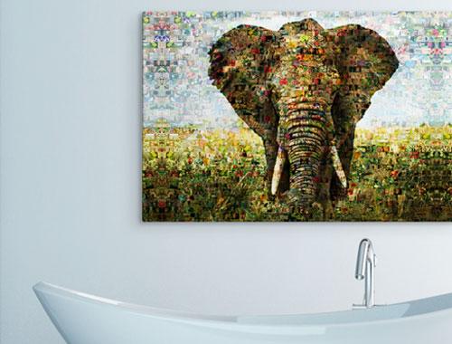 salon mosaico aluminio elefante
