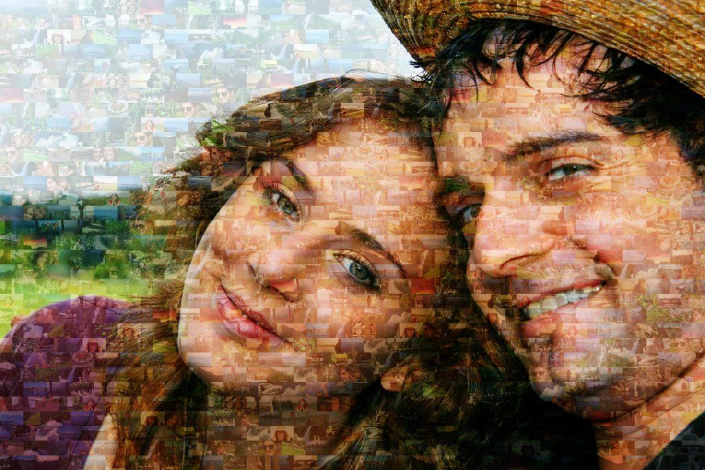 zoom mosaico pareja